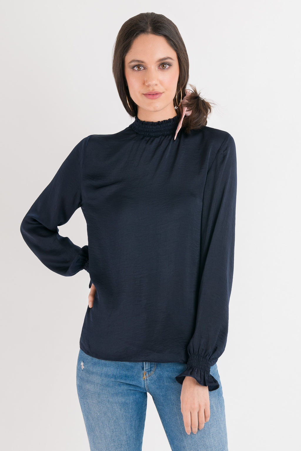 Emma Blouse - Navy