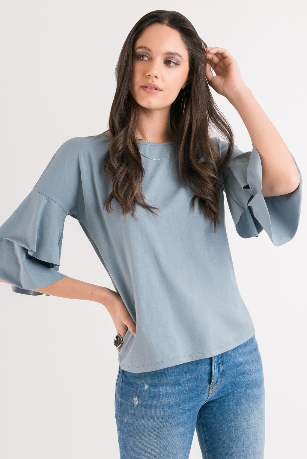 Flutter Casual Tee - Duck Egg