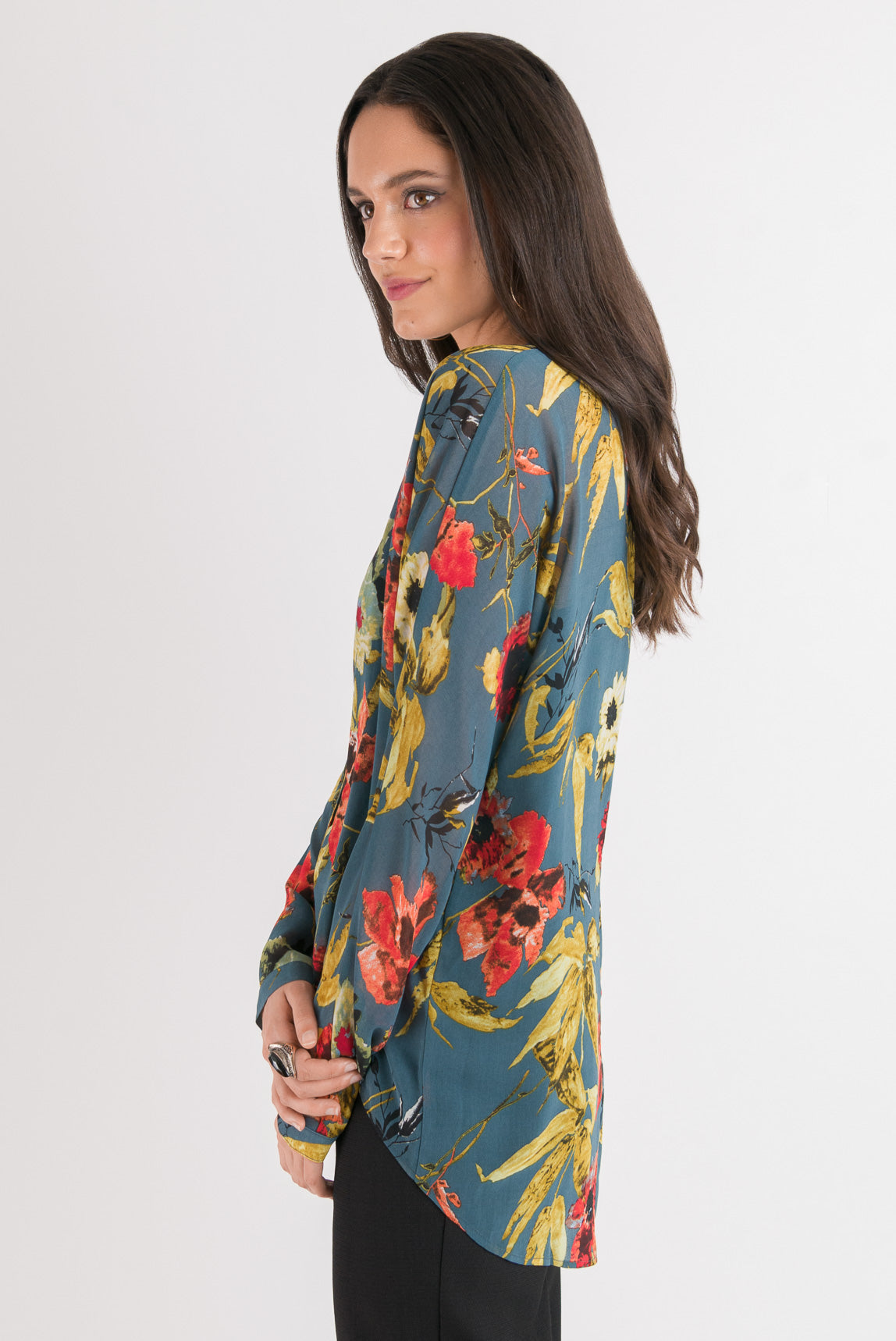 Batwing Shirt - Floral