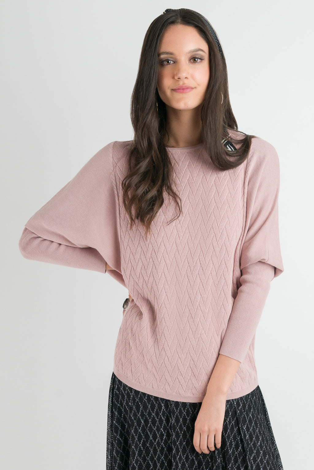 Weave Sweater - Blush