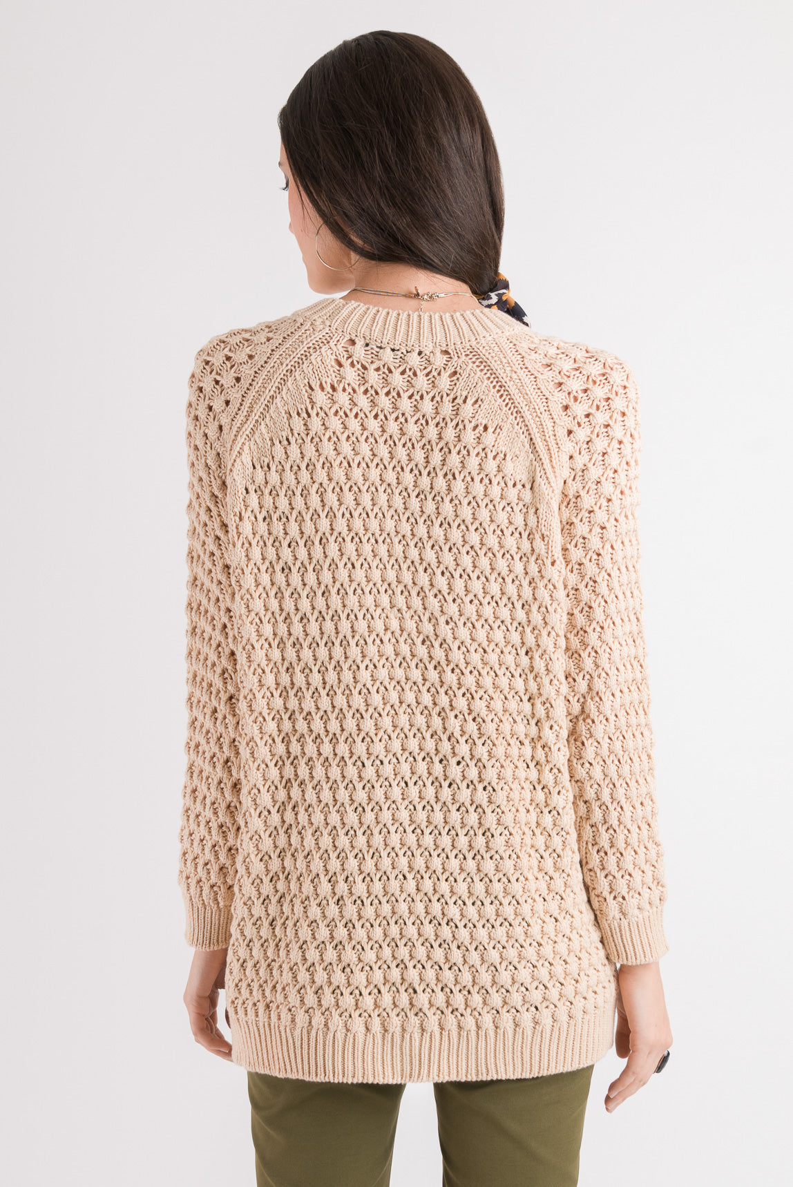 Waffle Sweater - Biscuit