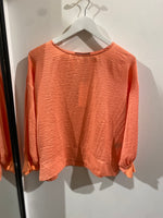 Cuff Sleeve Top - Coral