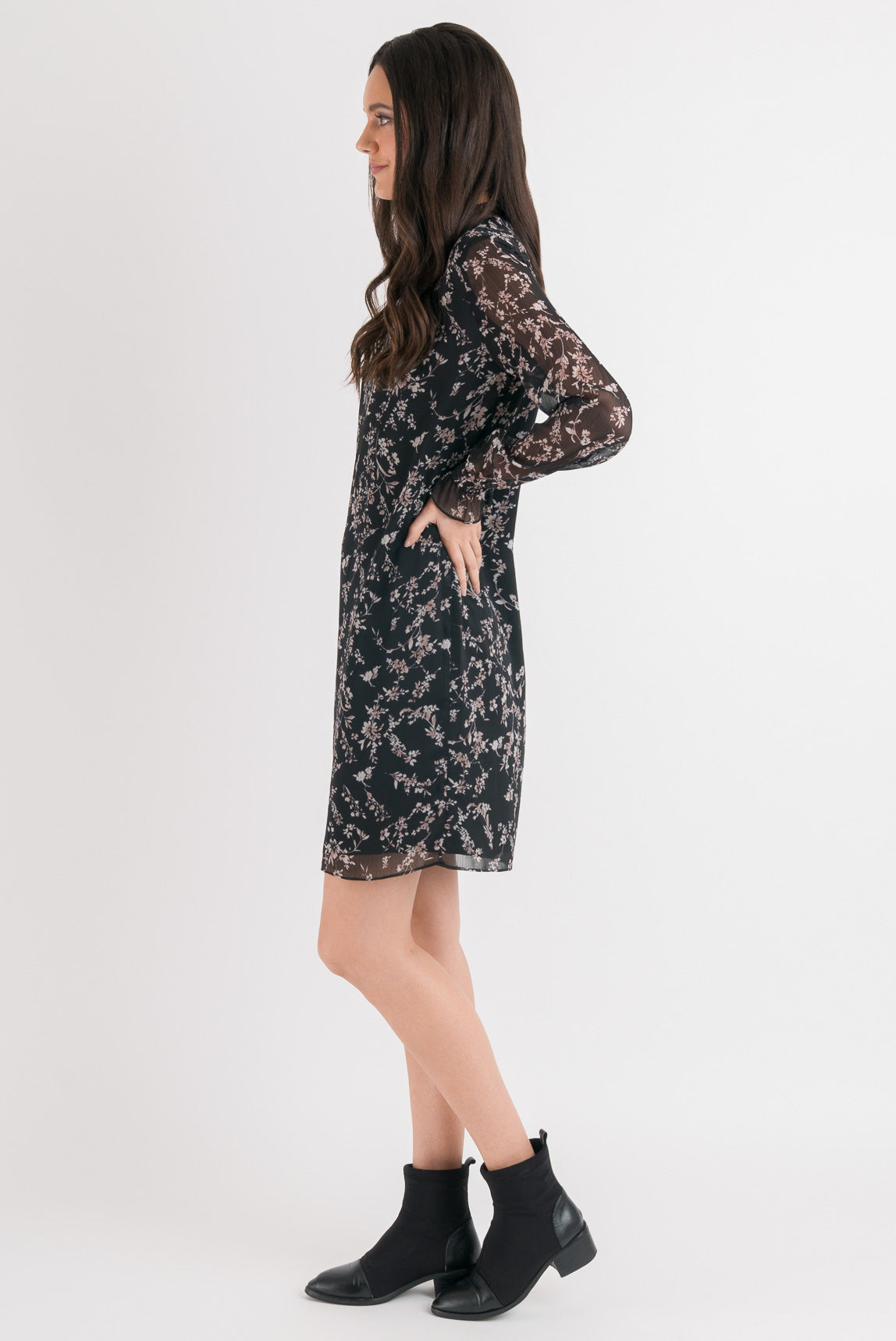 Emma Dress - Black Floral