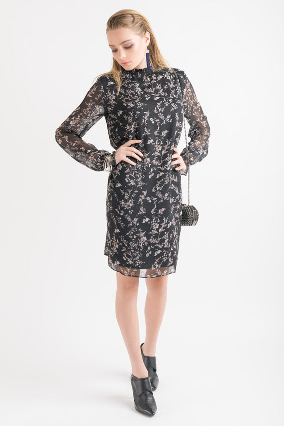 Emma Dress - Black Floral Video