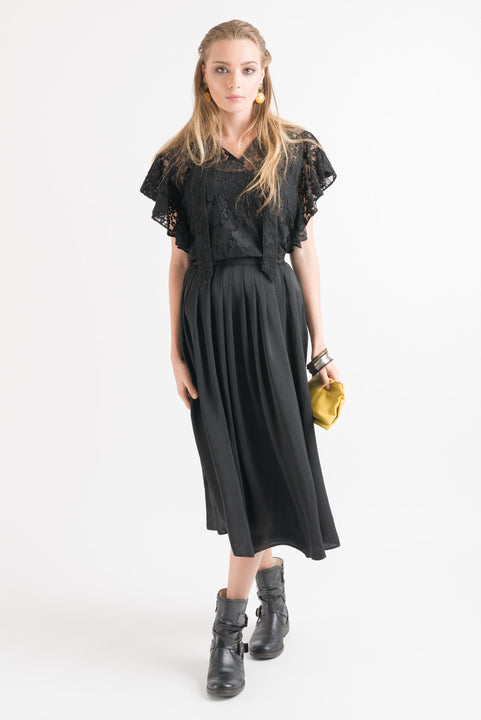 Drape Skirt - Black
