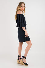 Off the Shoulder Dress - Black