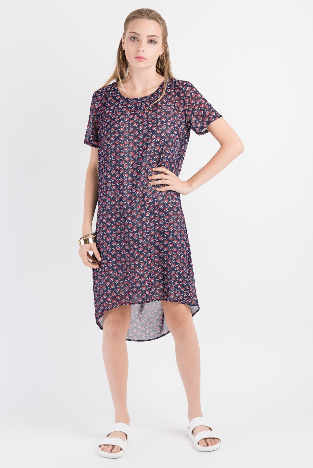Float Dress - Navy print