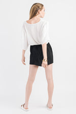 Puff Sleeve Top - White
