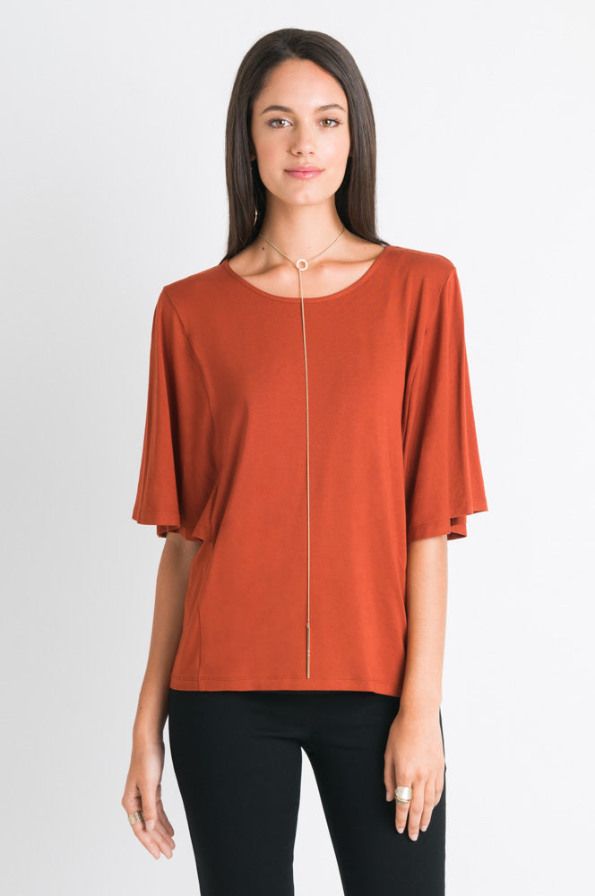 Flutter Sleeve Tee - Copper