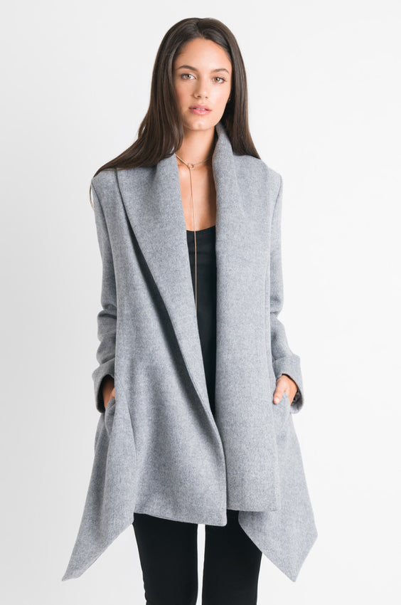 Wrap Coat - Grey Marle Video