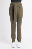 Relax Tie Front Pant - Olive
