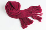 Longline Scarf - Deep Red