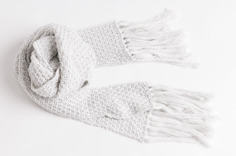 Longline Scarf - Light Grey