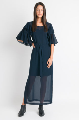 Double Layer Sleeve Maxi - Navy