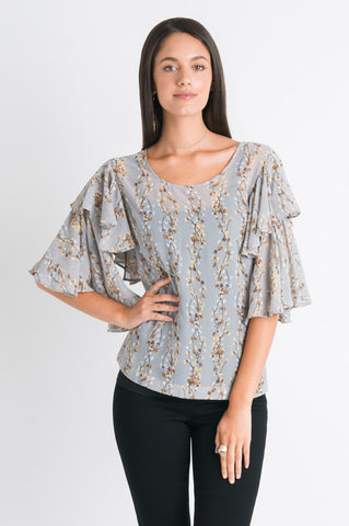 Double Layer Sleeve Top