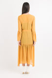Flared Panel Dress - Gold