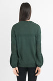 Pointelle Sweater - Dark Green