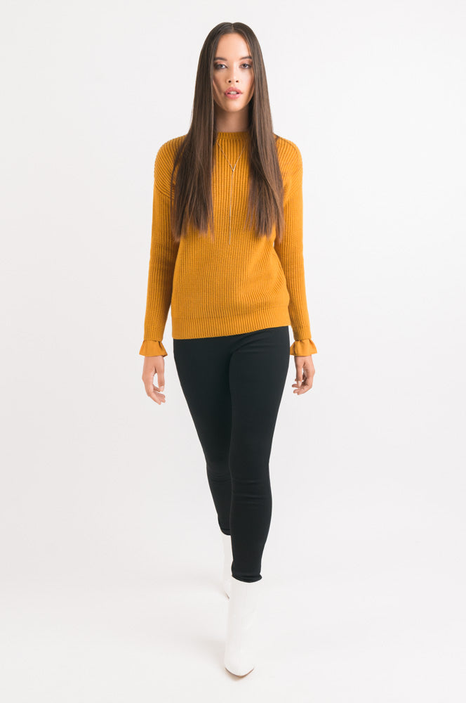 Rib Sweater - Gold