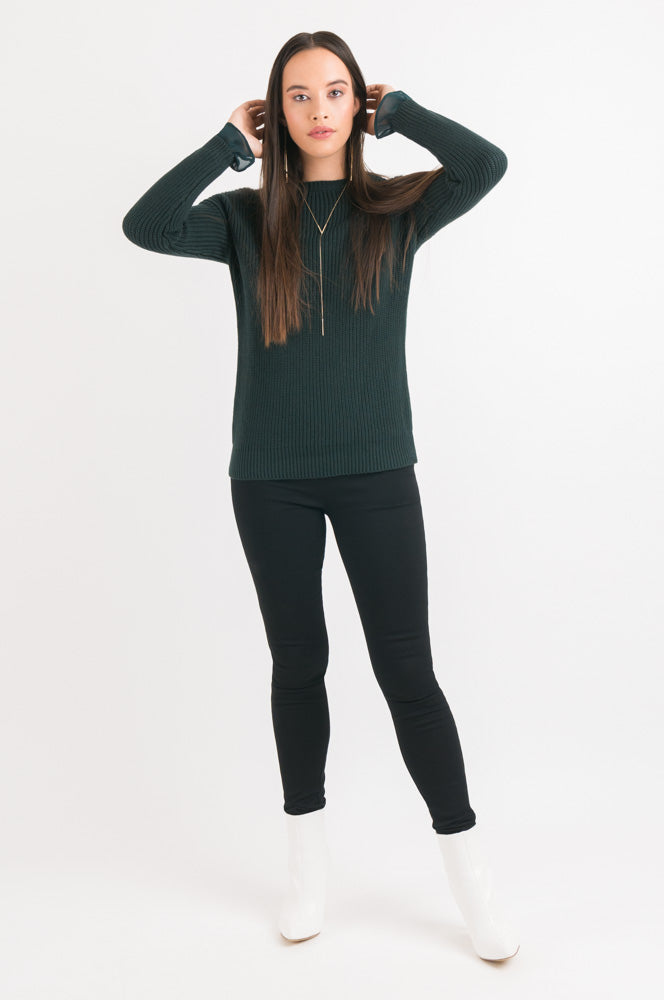 Rib Sweater - Dark Green