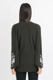 Embroidered Cardi - Dark Green
