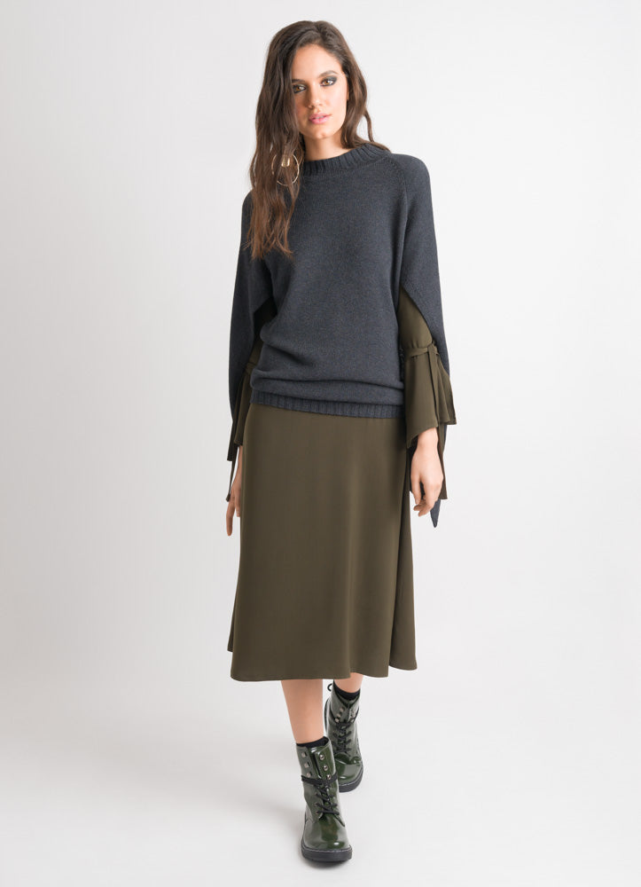Cape Sweater - Charcoal