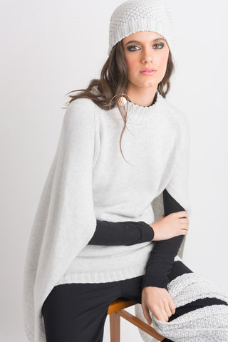 Cape Sweater - Light Grey