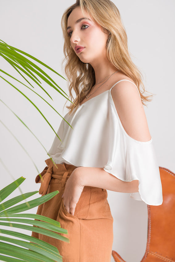 Ruffle Cami - White Video