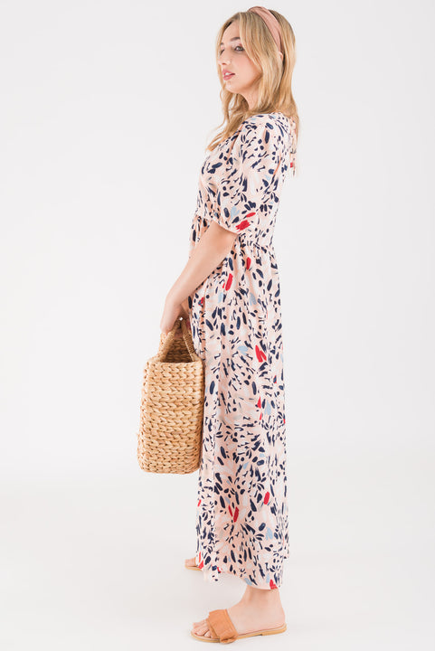 Alice Dress - Blush print