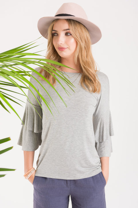 Flutter Casual Tee - Grey