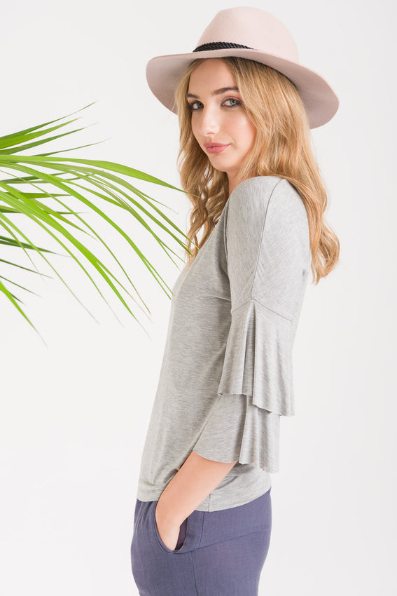 Flutter Casual Tee - Grey Video