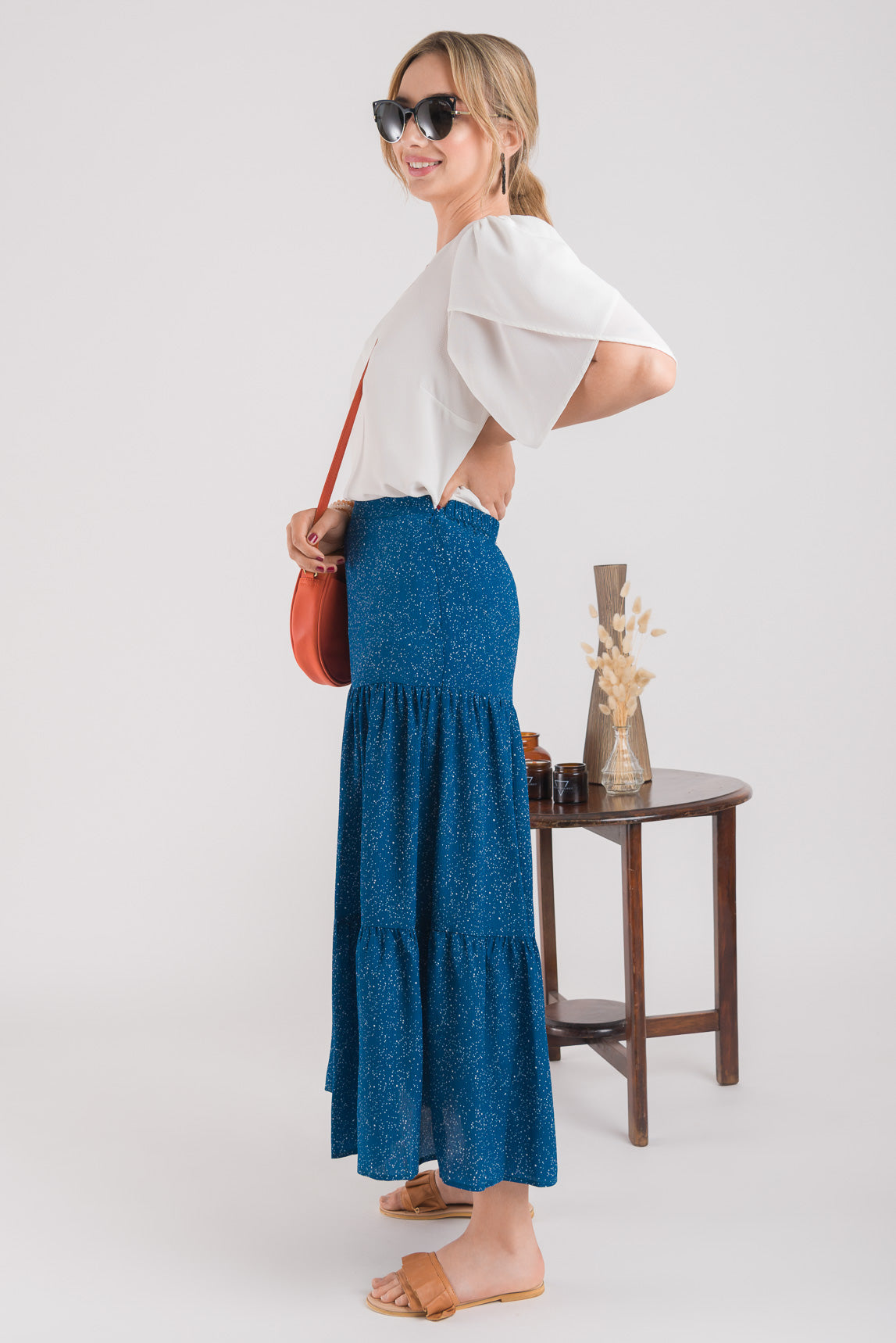 Tiered Maxi Skirt - Petrol