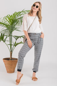 Hakama Pant - Tan Plaid