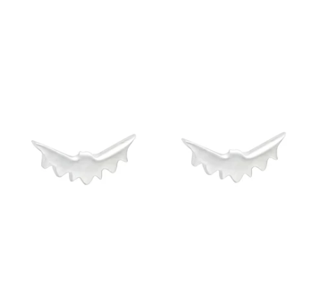 Wicken: Baby Bat Earrings - Silver