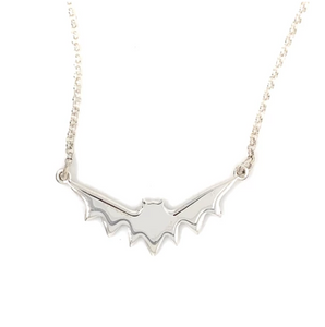 Wicken: Baby Bat Pendant - Silver