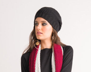 Textured Beanie - Black