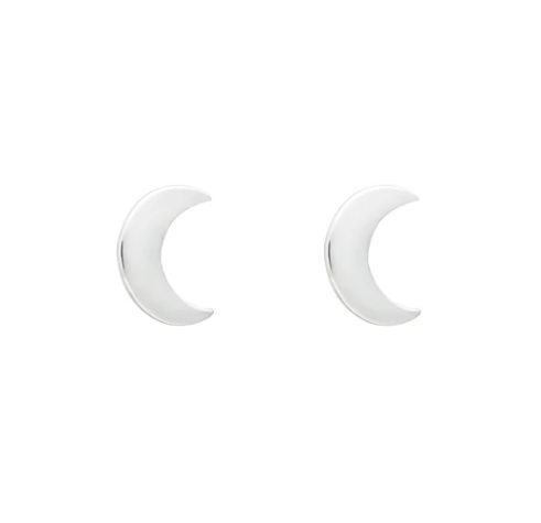 Wicken: Baby Moon Earrings - Silver