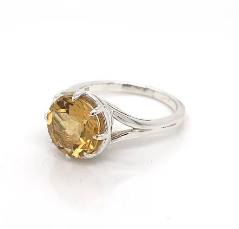 Wicken Jewellery: Songbird Ring - Citrine in Silver