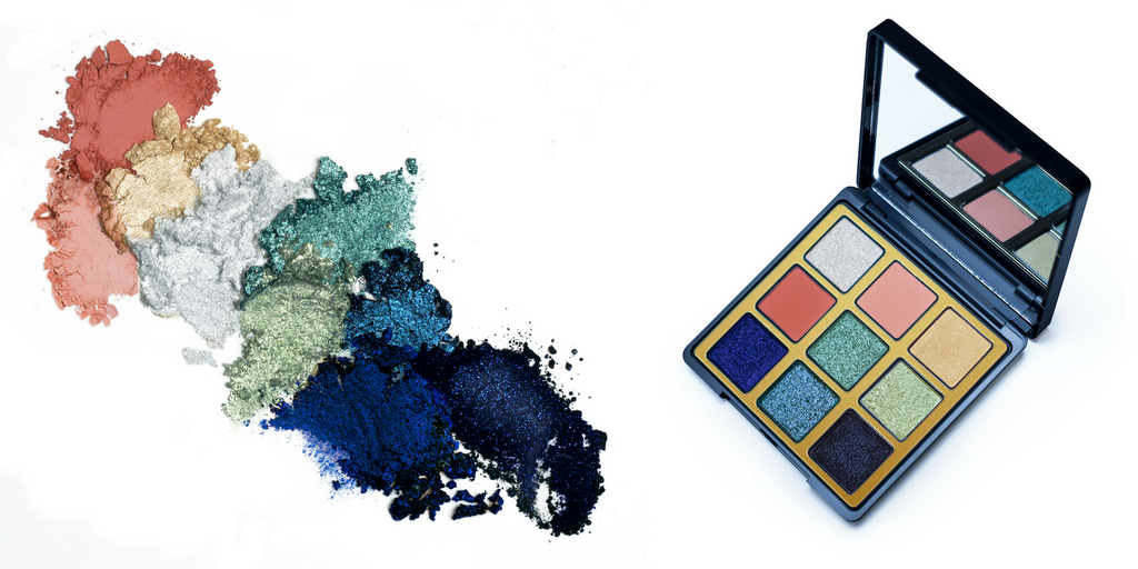 Aqua eyeshadow palette and powder image