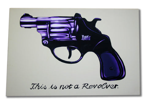 Rene Magritte style canvas - This is Not a Revolver