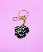 BLACK ROSE KEYCHAIN