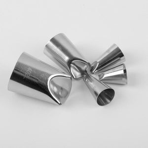 PETAL STAINLESS STEEL ICING PIPING NOZZLE 5PCS/SET