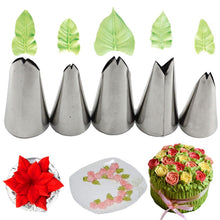 Load image into Gallery viewer, 7 PCS/SET LEAVES CREAM PIPING TIPS
