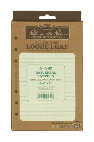 Rite in the Rain Loose Leaf Paper No 982 - Applied Gear, everyday carry, tactical belt, tactical gear