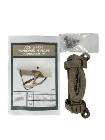 ACH & ECH Improved H-Nape Retention System - Applied Gear, everyday carry, tactical belt, tactical gear