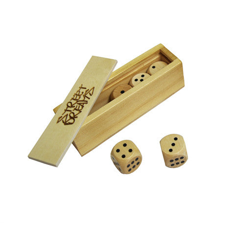 Wood Dice Set