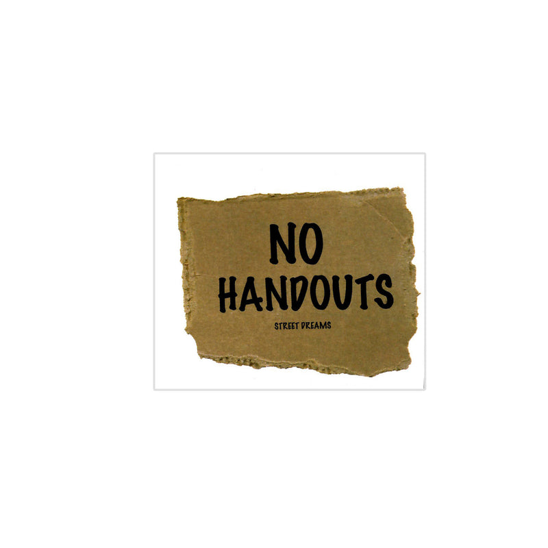 No Handout Sticker