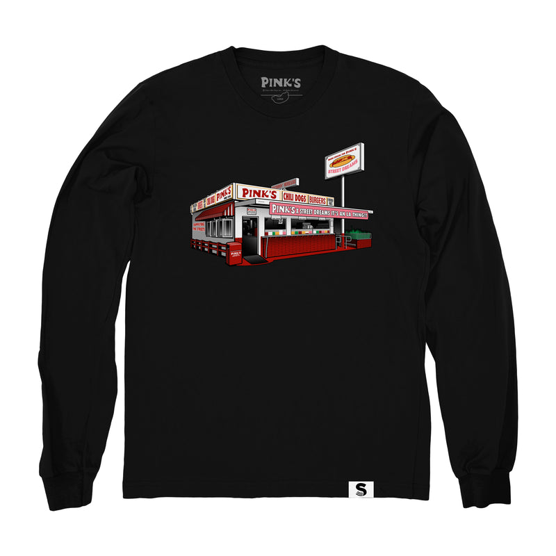 Street Dreams x Pink's Hot Dogs Stand Alone LS Tee