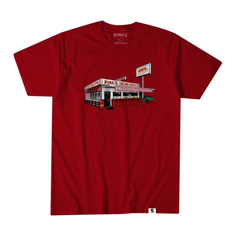 Street Dreams x Pink's Hot Dogs Stand Alone Tee