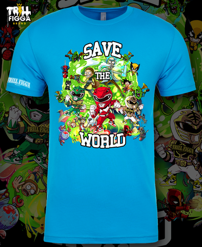 "Men's ""Save the World"" Tee (Aqua)"