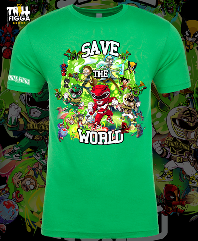 "Men's ""Save the World"" Tee (Green)"